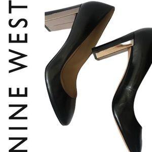 NWOT black leather block heels !!👠🛍